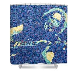 Jerry Garcia Chuck Close Style Shower Curtain by Joshua Morton