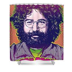 Jerry Garcia Pop Art Shower Curtain by Jim Zahniser