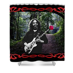 Shower Curtain featuring the photograph Jerry Road Rose 2 by Ben Upham
