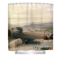 Jerusalem, April 1839 Shower Curtain by David Roberts