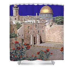 Jerusalem Shower Curtain by Guido Borelli