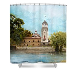 Jesuit Block And Estancias Of Cordoba Shower Curtain by Catf