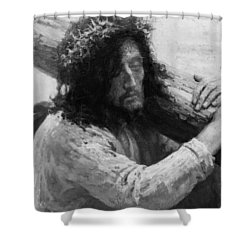 Jesus Carrying The Cross Circa 1898  Shower Curtain by Aged Pixel