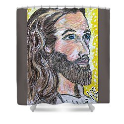 Jesus Christ Shower Curtain by Kathy Marrs Chandler