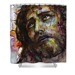 Shower Curtain featuring the painting Jesus Christ by Laur Iduc