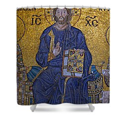 Jesus Christ Mosaic Shower Curtain by Stephen Stookey
