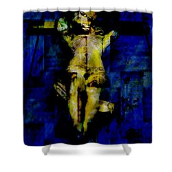 Jesus Christ  Shower Curtain by Tommytechno Sweden