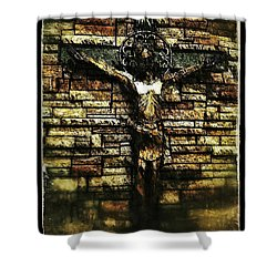 Jesus Coming Into View Shower Curtain