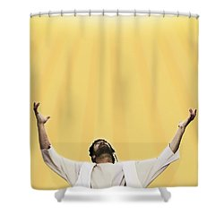 Jesus Cries Out To Heaven Shower Curtain by Kelly Redinger