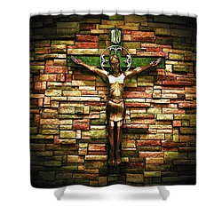 Jesus Is His Name Shower Curtain