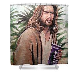 Jesus Lebowski Shower Curtain by Tom Carlton