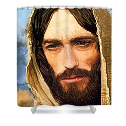 Jesus Of Nazareth Portrait Shower Curtain