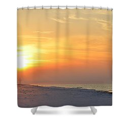 Jesus Rising On Easter Morning On Navarre Beach Shower Curtain