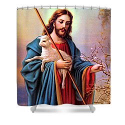 Jesus Shepherd Shower Curtain