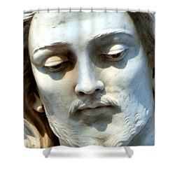 Jesus Statue Shower Curtain by David G Paul