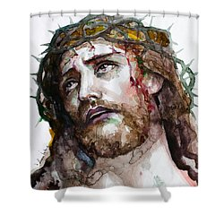 The Suffering God Shower Curtain