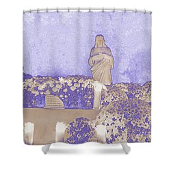 Shower Curtain featuring the photograph All Saints Day In Lacombe Louisiana by Luana K Perez
