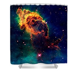 Jet In Carina Shower Curtain by Amanda Struz
