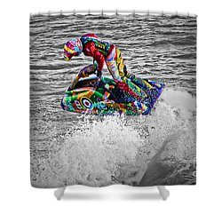 Jet Ski Shower Curtain by Terri Waters