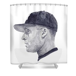 Jeter Shower Curtain by Tamir Barkan