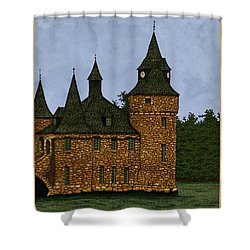 Jethro's Castle Shower Curtain by Meg Shearer