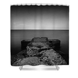 Jetty Shower Curtain by CJ Schmit