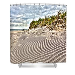 Jetty Four Dune Stripes Shower Curtain