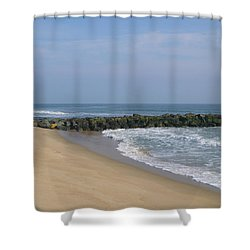Jetty In Winter Shower Curtain
