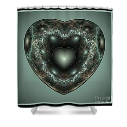 Jewel Heart Shower Curtain