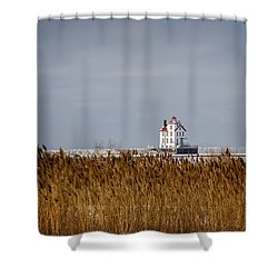 jewel of the Port Lorain Lighthouse Shower Curtain