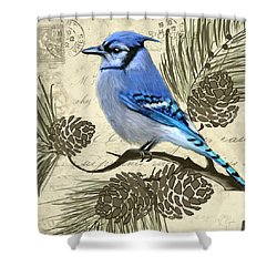 Jeweled Blue Shower Curtain