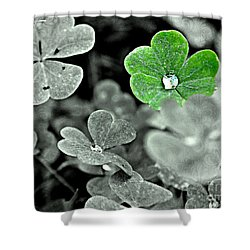 Jeweled Clover Shower Curtain