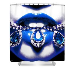 Jewelips Soft Blue Shower Curtain