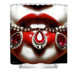 Jewelips Soft Red Shower Curtain