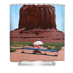 Jewelry Seller Shower Curtain by Mike Robles