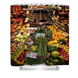 Jewels From The Market  Shower Curtain by Mary Machare