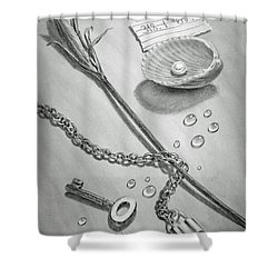 Jewels Of Love Shower Curtain by Irina Sztukowski