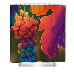 Shower Curtain featuring the painting Jewels Of The Vine by Sandi Whetzel