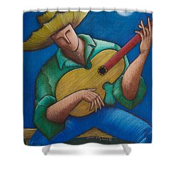 Jibaro Bajo La Luna Shower Curtain