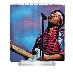 Jimi Hendrix 2 Shower Curtain by Paul Meijering