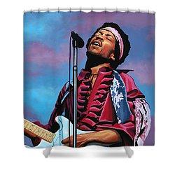 Jimi Hendrix 2 Shower Curtain