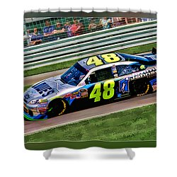 Jimmie Johnson Shower Curtain