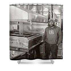 Jimmy At Mt Cube Sugar Farm Shower Curtain by Edward Fielding