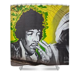 Jimmy Hendrix Mural Shower Curtain