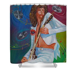 Jimmy Page 2 Shower Curtain by To-Tam Gerwe