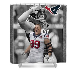 Jj Watt Texans Shower Curtain