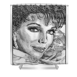 Joan Collins In 1985 Shower Curtain by J McCombie