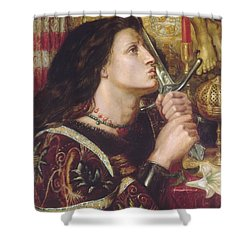 Joan Of Arc Kisses The Sword Of Liberation Shower Curtain by Philip Ralley