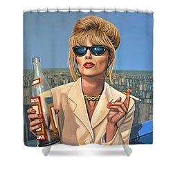 Joanna Lumley As Patsy Stone Shower Curtain by Paul Meijering