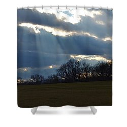 Shower Curtain featuring the photograph Job 12 22 by Carlee Ojeda